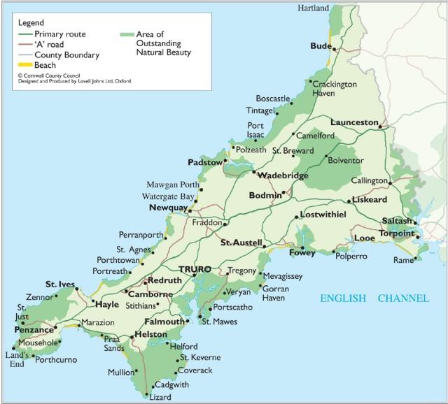Cornwall-Map